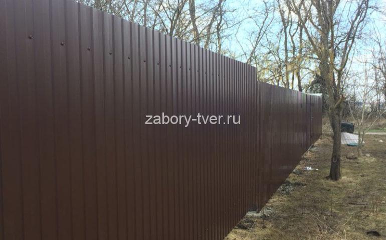 забор из профлиста в Твери